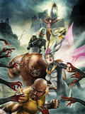 Thunderbolts No.157 Cover: Luke Cage, Songbird, Juggernaut, Ghost, Moonstone, and Satana Plastic Sign by Jean-Sebastien Rossbach