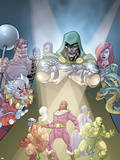 Doctor Doom And The Masters Of Evil No.2 Cover: Dr. Doom, Princess Python, Clown and Baron Zemo Plastic Sign by Karl Kerschl