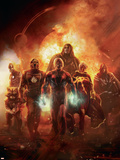 Annihilation: Conquest No.6 Cover: Adam Warlock, Quasar, Star-Lord and Ronan The Accuser Plastic Sign