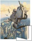 Secret Invasion No.1: Marvel Universe Wood Print by Leinil Francis Yu