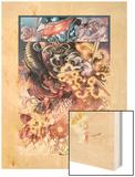 War Of Kings: Darkhawk 2: Marvel Universe Wood Print by Harvey Tolibao