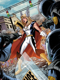Fear Itself: Youth in Revolt No.1: Thor Girl Standing with a Hammer Plastic Sign by Mike Norton