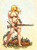 Shanna, The She-Devil No.4 Cover: Shanna The She-Devil Plastic Sign by Frank Cho