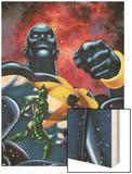 Captain Marvel No.21 Cover: Captain Marvel Wood Print by Chris Cross