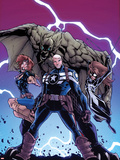 Onslaught Unleashed No.3 Cover: Steve Rogers, Nomad and Spider-Girl Wall Decal by Humberto Ramos