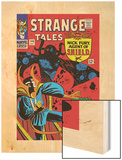 Strange Tales No.146 Cover: Dr. Strange and Eternity Wood Print by Steve Ditko