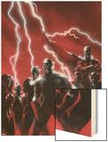 Secret Invasion No.1 Cover: Captain America Wood Print by Gabriele DellOtto