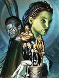 Inhumans No.12 Cover: Alaris, San, Tonaja, Nahrees and Inhumans Plastic Sign