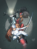 Daughters Of The Dragon No.3 Cover: Misty Knight, Wing and Colleen Charging Wall Decal by Khari Evans