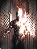 Human Torch Comics 70th Anniversary Special No.1 Cover: Human Torch Wall Decal by Adi Granov