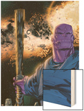 Thanos No.8 Cover: Thanos Wood Print by Keith Giffen