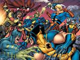 Eternals No.8 Group: Wolverine, Ikaris, Beast, Vampiro, Eramis and Druig Wall Decal by Eric Nguyen