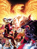 Avengers vs X-Men No.2: Iron Man, Magneto, Thor, and Hope Summers Plastic Sign by Jim Cheung