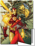 Astonishing Tales No.3 Cover: Spider Woman and Iron Man Prints by Kenneth Rocafort