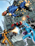 Fear Itself: The Home Front No.1: Speedball Falling Plastic Sign by Mike Mayhew