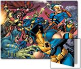 Eternals No.8 Group: Wolverine, Ikaris, Beast, Vampiro, Eramis and Druig Poster by Eric Nguyen