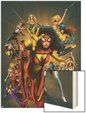 The Official Handbook Of The Marvel Universe: The Women of Marvel 2005 Cover: Spider Woman Charging Posters by Greg Land
