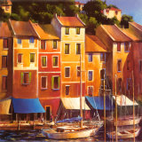Portofino Waterfront Prints by Michael O'Toole