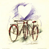 Bicycle Romance Prints by Alfred Gockel