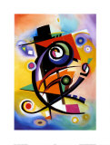 Homage to Kandinsky Print van Alfred Gockel