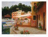 Morning Stroll in Portofino Art by George W. Bates