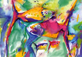Colorful Fish Prints by Alfred Gockel