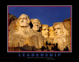 Leaders - Mount Rushmore Poster