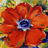 Riotous Red Bloom Kunstdruck von Alfred Gockel