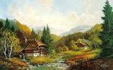 Schwarzwaldhaus Print by Helmut Glassl