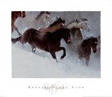Caballos en la nieve Láminas por David R. Stoecklein