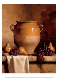 Confit Jar with Pears and Grapes Posters by Loran Speck