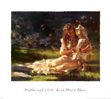 Mother and Child Poster by Anne Marie Oborn