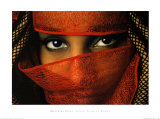 Veiled Tunisian Woman Print by Matthias Stolt