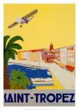 Reclameposter Saint Tropez Posters van  Chomel