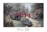 Crimson Bridge Art by Barbara Hails