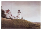 Mist at Pemaquid Light Prints by Douglas Brega