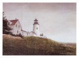 Mist at Pemaquid Light Prints by Douglas Brega