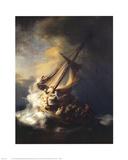 Storm on the Sea of Galilee Kunst av  Rembrandt van Rijn