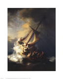 Storm on the Sea of Galilee Kunst van Rembrandt van Rijn