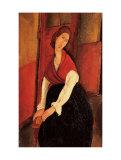 Portrait De Jeanne Hebuterne Posters by Amedeo Modigliani