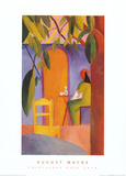 Turkisches Cafe Prints by Auguste Macke