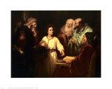 Christ in the Temple Posters af Heinrich Hofmann