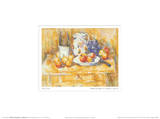 Still Life with Apples on a Sideboard Posters by Paul Cézanne