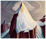Mount Lefroy Kunstdruck von Lawren S. Harris