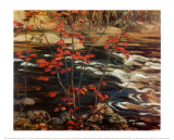 The Red Maple Poster af A. Y. Jackson