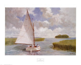 Catboat Through the Marsh Posters by Ray Ellis