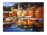 Portofino Colors Posters af Michael O'Toole