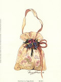 Sac avec des fleurs Affiche par Peggy Abrams