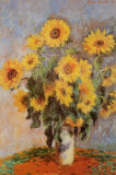 Sunflowers 1881 Fotografa por Claude Monet