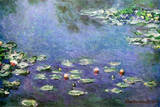 Waterlilies Poster van Claude Monet